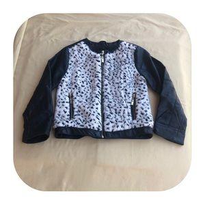 Faux Fur & Leather Jacket Girls XS